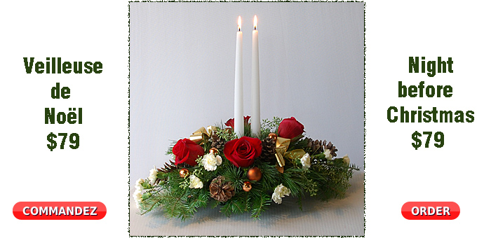 seasonal centerpiece with candles @ $79