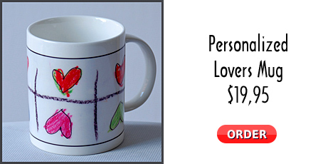 Personalized Lovers Mug @$19,95