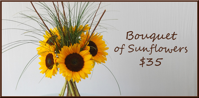 Bouquet of Sunflowers @ $35