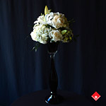 Graceful and tall white flower Montreal wedding centrepiece created by The Flower pot.