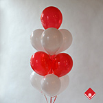 High float treated Latex balloon bouquet