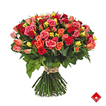 Hundred roses in assorted colors.