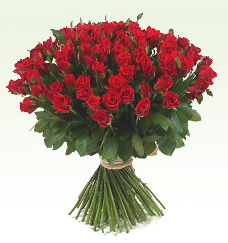 Romantic gift of 101 red roses