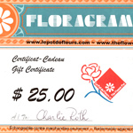 Florist gift certificate - The Flower Pot in Montreal
