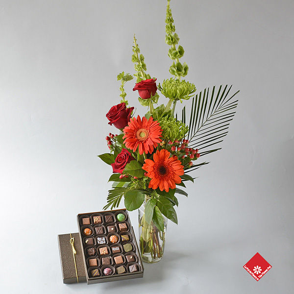 Flowers and chocolates for delivery in Montreal.