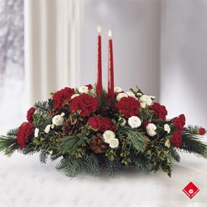 Décorations de Noël classiques rouge et blanc