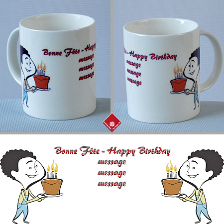 Custom gift mugs with your recipient's name.