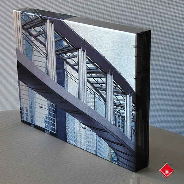 Your digitial photo on brushed aluminium