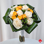 European-style rose graduation bouquet in Montreal.