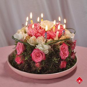 Flower Birthday Cake on Dien Dan Han Ngu  Ch  C M   Ng Sinh Nh   T Fenghuang Ntu