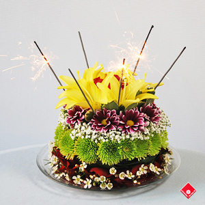 Admirable Cakes With Flowers In Montreal The Flower Pot Funny Birthday Cards Online Eattedamsfinfo