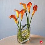 Calla lily vase from your Montreal florist.