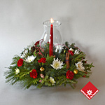 Christmas table centerpiece from your Montreal florist.