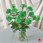 Green carnations for the St. Patrick's Day Parade in Montreal.