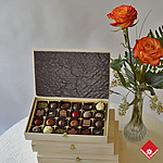 Box of 24 Montreal chocolates made in Montreal.