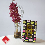 Unique Easter gift: 15 chocolates and orchids.