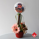 Original balloon centerpieces with your digital photo.