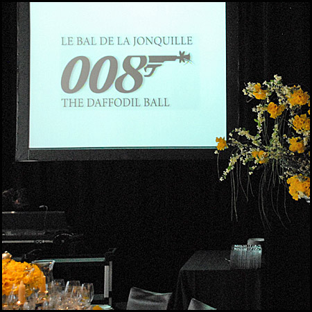 A James Bond theme at this year's Daffodil Ball -  2008.