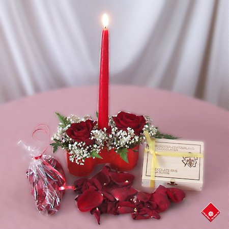 Rose arrangements for a romantic surprise.