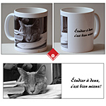 Custom mug with your text and photo
