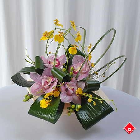 Pink Cymbidium Orchids In Pot From Montreal Florist The