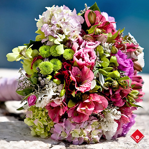 Summer wedding bouquet - The Flower Pot