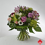 Hand-tied French Bouquet with roses, orchids and more!