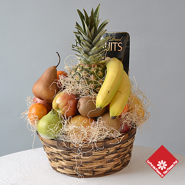 Fresh fruit gift basket.