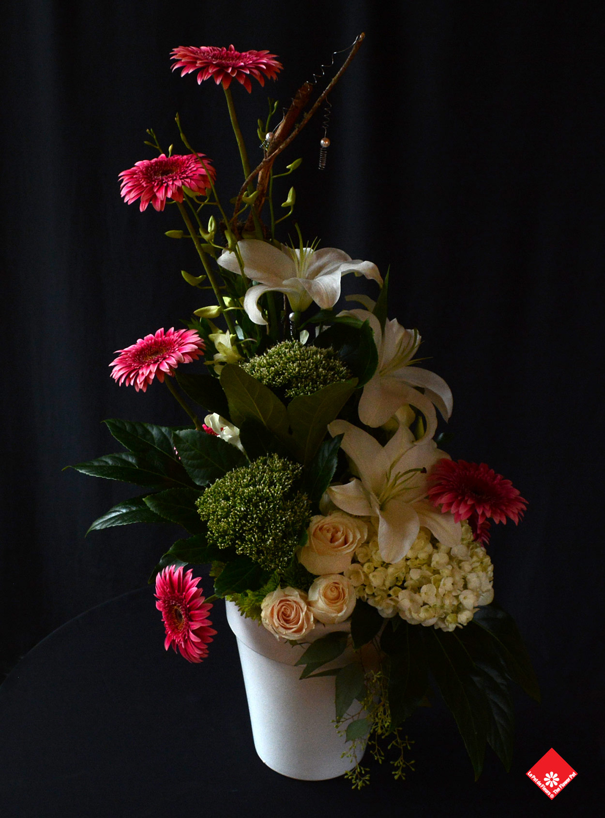 We made this colourful flower arrangement for a Private Birthday Party at the Gault Hotel.