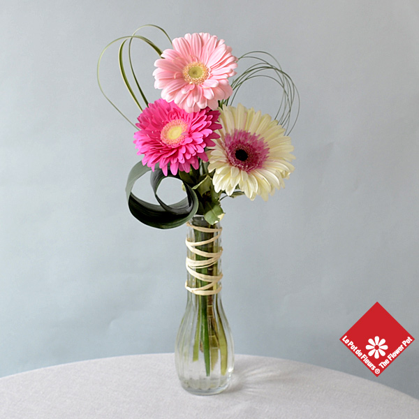Woman's Day gift of flowesr in a vase.