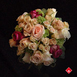 Stunning maid of honor bouquet with roses.