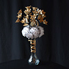 Our creative French florist created this wonderful paper flower arrangement made of newspapers and t