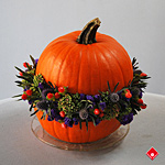Pumpkin Hamburger arrangement - The Flower Pot.