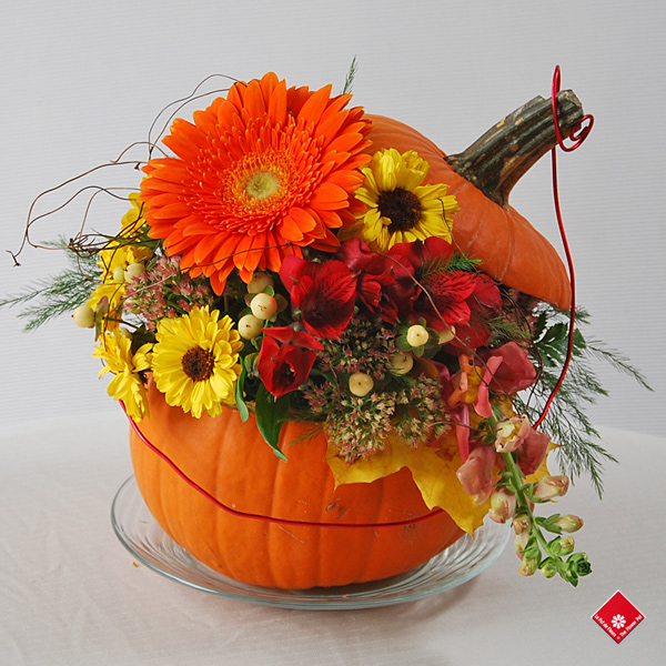 Fall Flowers and Halloween Decor in Montreal · The Flower Pot