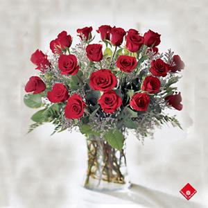 24 Roses in Vase