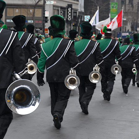 St-Patrick's Day Parade Montreal