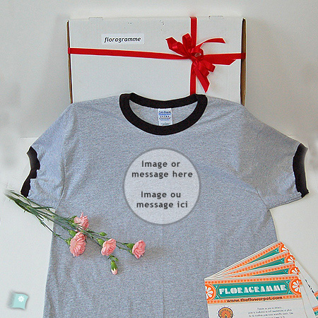 Handmade t shirt with your image or message.