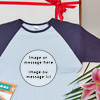 Personalized photo t shirt with your image and message.