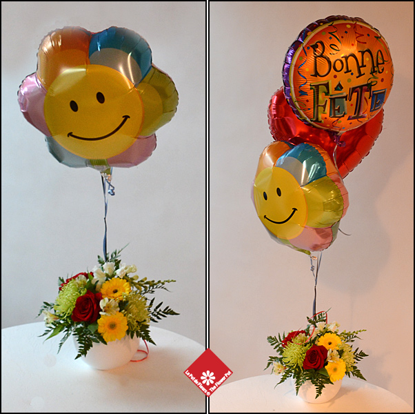 Balloons and flowers for local delivery.