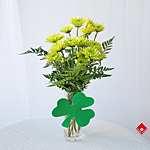 Fresh cut flowers for a St. Patrick's Day gift