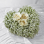 White heart for casket for a loved one's funeral.