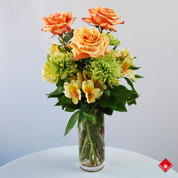 The Griffintown Bouquet in a vase from The Flower Pot - Your Montreal Florist