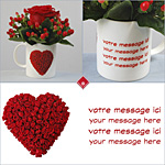 Custom mug + Valentine's day rose