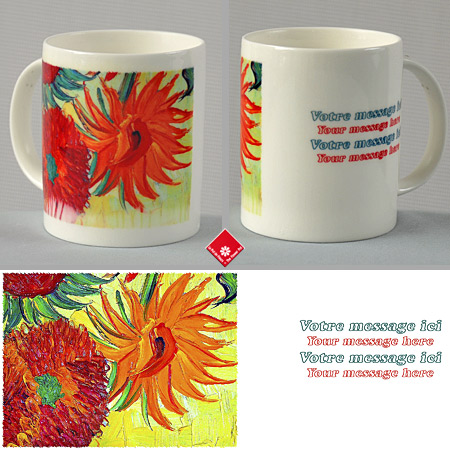 Custom mug with SunFlowers by van Gogh