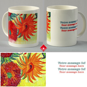 Custom mug with Sunflowers