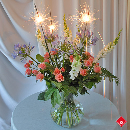 Montreal fireworks bouquet to make sparks fly from your Montreal Florist