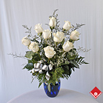 White Roses for Holiday flower delivery.
