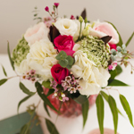Mixed Flowers in Geometric Vase by Your Montreal Florist · The Flower Pot