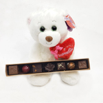 Teddy and chocolates.